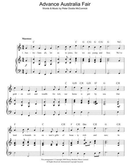 Download Digital Sheet Music Of National For Piano Vocal And Guitar