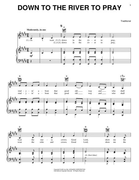 Down in the river to pray sheet music to download and print - World ...