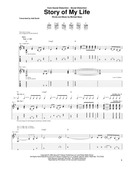 Social Distortion sheet music to download and print - World center ...