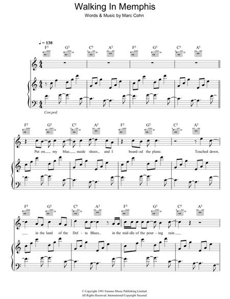 Download Digital Sheet Music of marc cohn for Piano, Vocal and Guitar