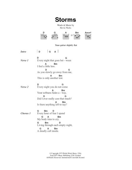 fleetwood mac storms ukulele chords