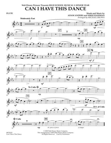Download Digital Sheet Music Of High School Musical 3 For Flute