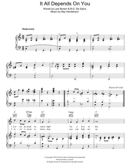 Ray Henderson Sheet Music To Download And Print World Center Of