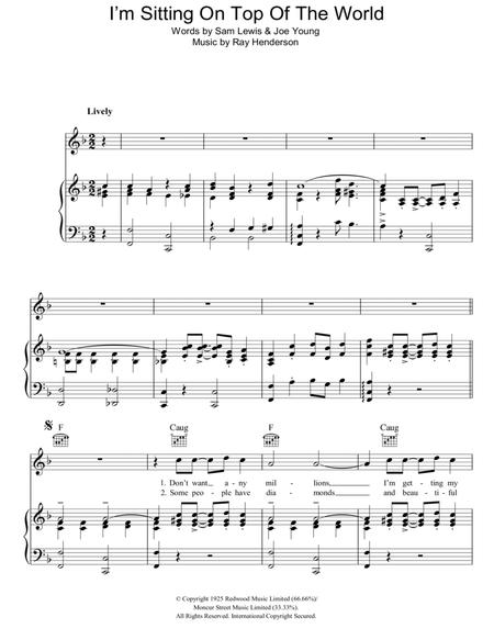 Download Digital Sheet Music Of Sittin On Top Of The World For