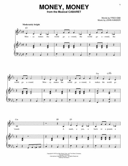 Download Digital Sheet Music of Hal Kanter for Piano, Vocal and Guitar