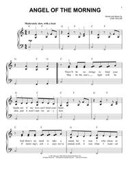 angel of the morning piano sheet music free