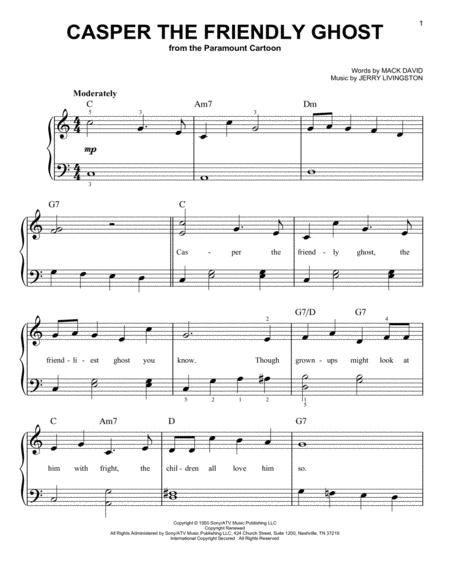 by tv theme song and jerry livingston for easy piano children filmtv halloween easy piano 3 pages published by hal leonard digital sheet music
