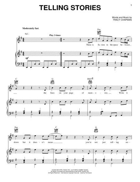 Partitions Tlcharger De Tracy Chapman Chez Sheetmusicplus