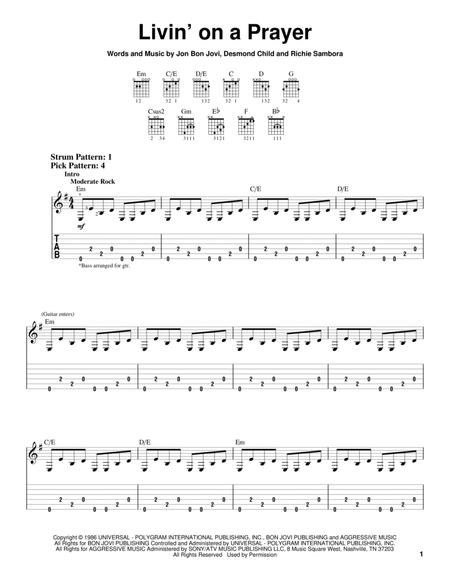 Bon Jovi and Desmond Child sheet music to download and print - World ...