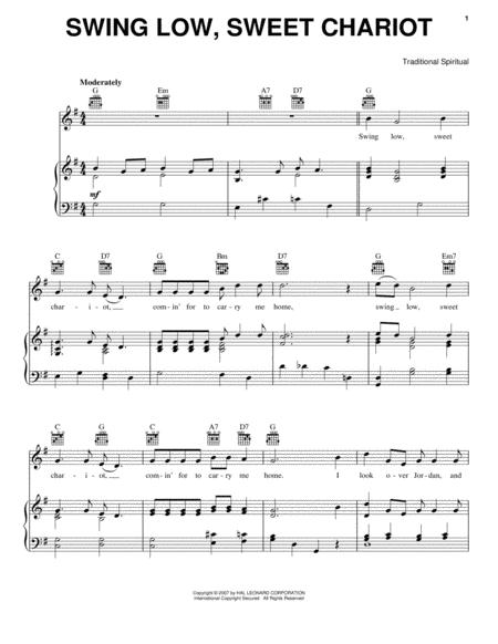 Swing Low voice sheet music to download and print - World