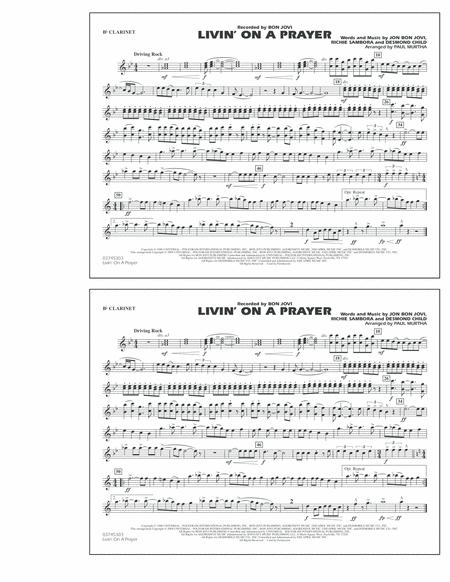Download Digital Sheet Music Of Bon Jovi For Clarinet