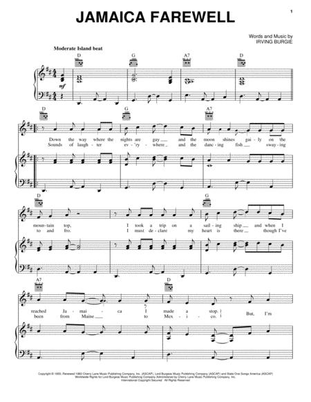 Download Digital Sheet Music of Harry Belafonte for Piano, Vocal and ...