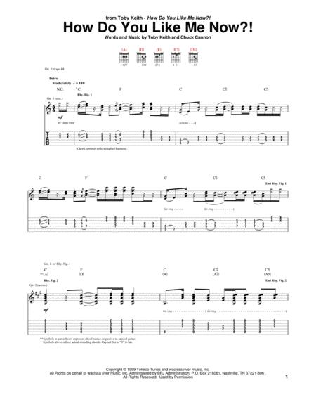 Download Digital Sheet Music Of How Do You Do For Guitar Notes And
