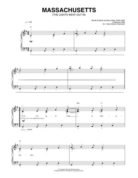 words bee gees piano sheet music pdf