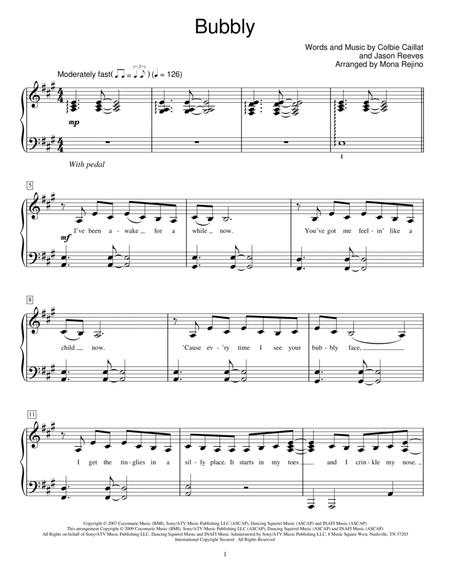 Download Digital Sheet Music Of Colbie Caillat For Easy Piano