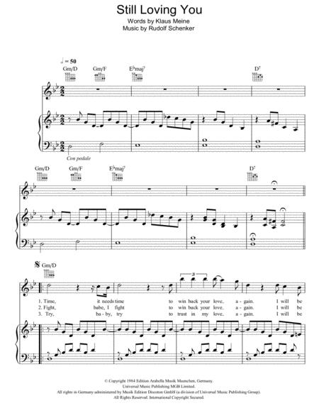 Download Digital Sheet Music Of Scorpions For Piano Vocal And Guitar