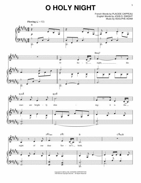Download Digital Sheet Music Of O Holy Night For Piano Vocal And Guitar