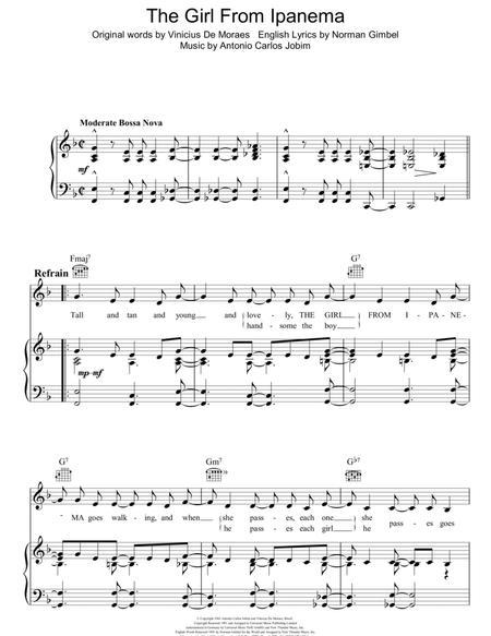 Download Digital Sheet Music of Antonio Carlos Jobim Piano, Voice ...
