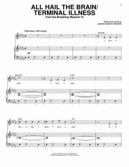 Jason Robert Brown and 13: The Musical sheet music to download and ...