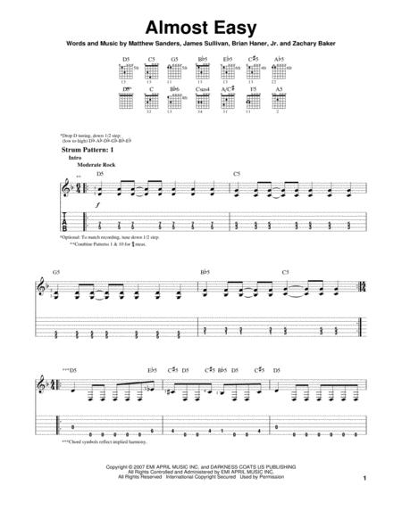 Guitar guitar tabs avenged sevenfold : Avenged Sevenfold sheet music to download and print - World center ...
