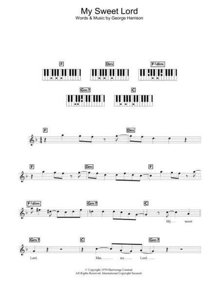 Download Digital Sheet Music Of George Harrison For Piano Solo