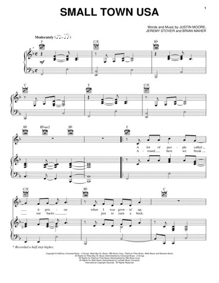 Justin Moore Sheet Music To Download And Print World Center Of