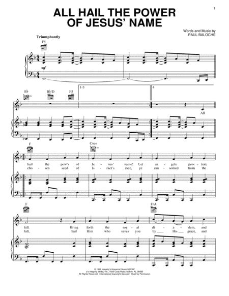 Download Digital Sheet Music Of Paul Baloche For Piano Vocal And Guitar