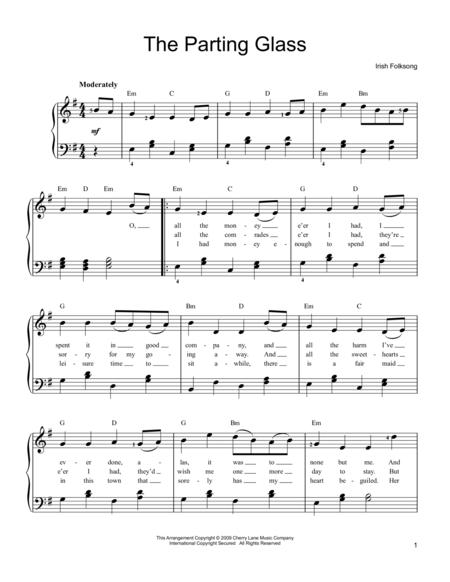 Traditional The Parting Glass Sheet Music To Download And Print