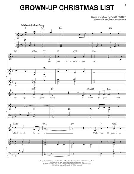christian christmas pop pv 7 pages published by hal leonard digital sheet music grown up christmas list amy grant - Amy Grant Grown Up Christmas List