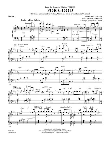 for good wicked orchestra score pdf