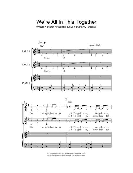 High School Musical sheet music to download and print - World center