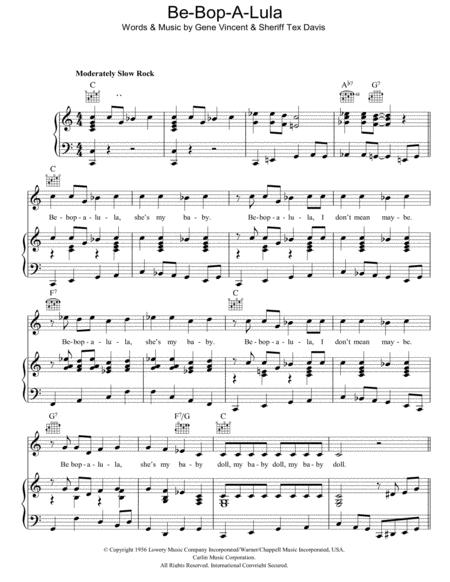 Gene Vincent sheet music to download and print - World center of ...