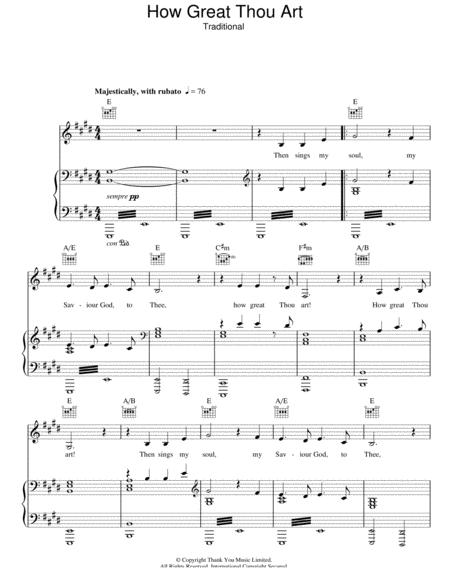 Download Digital Sheet Music of how great thou art for Piano, Vocal ...