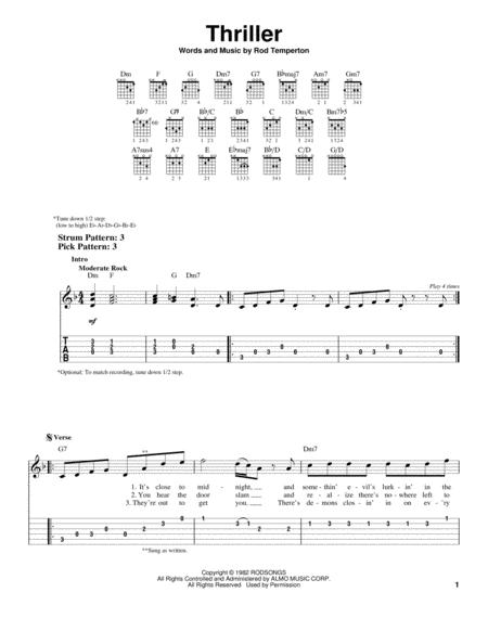 Download Digital Sheet Music of michael jackson for Guitar notes and ...