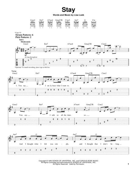 Pop Rock Easy Guitar With TAB Standard Notation Tablature 4 Pages Published By Hal Leonard