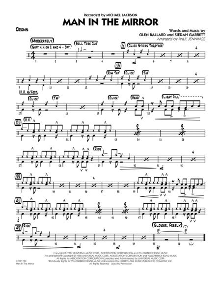 Download Digital Sheet Music Of Michael Jackson For Drums