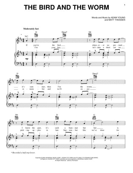 Download Digital Sheet Music Of Owl City Owl City For Piano Vocal