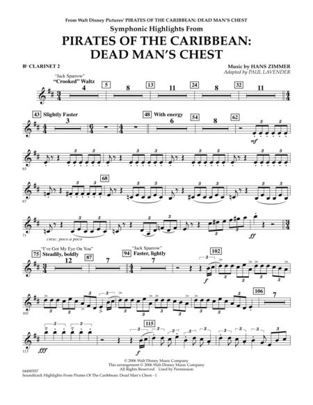 pirates of the caribbean Clarinet sheet music to download