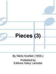 Pieces (3) sheet music