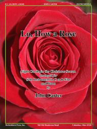 Lo, How a Rose sheet music