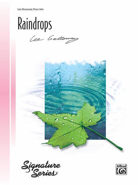 Sheet music: Raindrops (Piano solo)