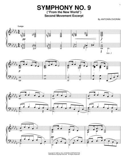 Download Digital Sheet Music of Dvorák Symphony 9 for Piano solo