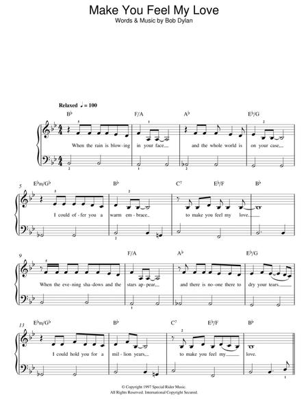 Adele And Bob Dylan Sheet Music To Download And Print World Center