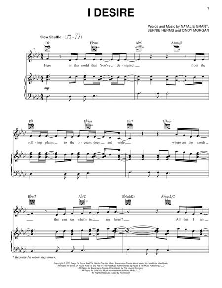 Download Digital Sheet Music Of Desire For Piano Vocal And Guitar