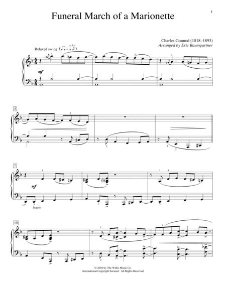 the funeral piano sheet music pdf