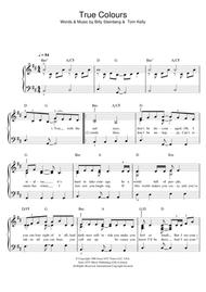true colors piano sheet music
