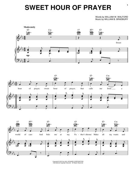 sweet hour of prayer sheet music to download and print - World ...
