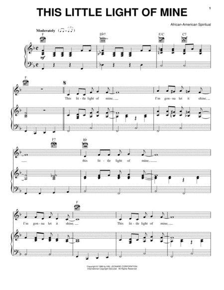Download Digital Sheet Music Of African American Spiritual For Piano