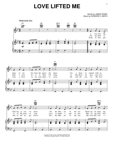 Love Lifted Me sheet music to download and print - World center of ...