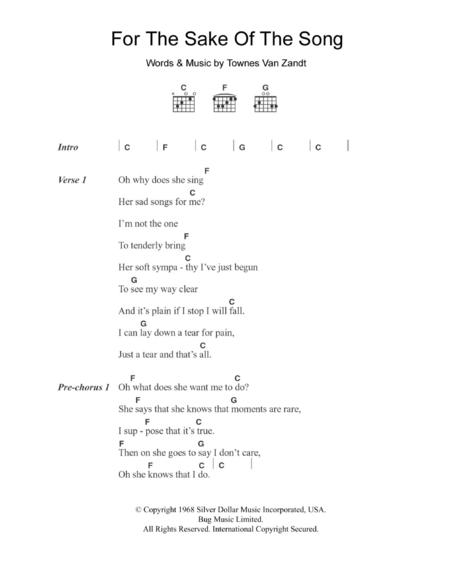 Townes Van Zandt sheet music to download and print - World center of ...
